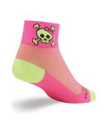 SockGuy Women's 5.1cm Skull Pop Ladies Cycling/Running Socks