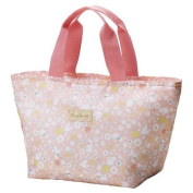 light pink flower animal thermo lunch bag for Bento boxes and bottles from Japan