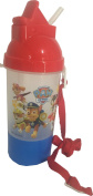Paw Patrol Water Bottle - Paw Patrol Rock N Sip N Snack Canteen Water Bottle with Removable and Adjustable Lanyard -