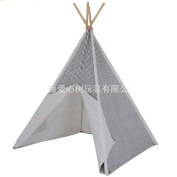 Free Love @white and grey small stripe colour kids play tent indian teepee playhouse