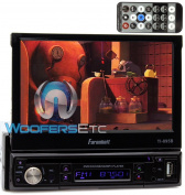 TI-895B - Farenheit In-Dash 1-DIN 18cm Motorised Flip-Out LCD Touchscreen DVD/CD/USB Receiver with Bluetooth V3.0