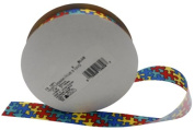 Autism Awareness Jigsaw Ribbon Spool