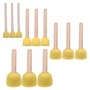 BCP 12-Pieces Assorted Size Round Sponges Brush Set, Paint Tools For Kids