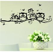 Willtoo Kids Vinyl Art Cartoon Owl Butterfly Wall Sticker Decor Home Decal