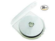 20 Pack, 45mm Rotary Cutter Blades - Sharp, High Quality SKS-7 Steel Rotary Blades