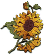 Sunflower Flower Granny Chic Retro Boho Sew Sewing Applique Iron-on Patch S-494.