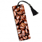 Coffee Beans Printed Bookmark with Tassel