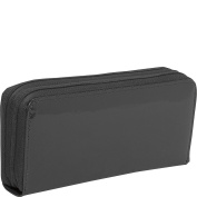 Jack Georges Patent Collection Double Zip Clutch