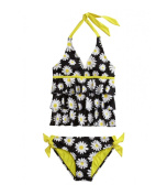 Justice Girl's Two-Piece Daisy Tankini
