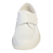 Toddler Boys White Velcro Matte Special Occasion Dress Shoes 6