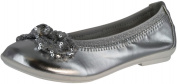 Lelli Kelly Girls Lk4714 Sequins Fashion Flats Shoes,Silver Metallic,34