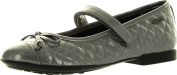 Geox Girls Plie Designer Casual Fashion Quilted Flats Shoes,Grey,35