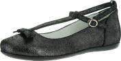 Primigi Girls Meryl Dress T Strap Fashion Flats Shoes,Shine Nero,27