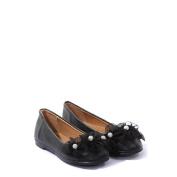Kids Dream Black Organza Flower Ballet Flats Baby Girl Dress Shoes 4 Toddler