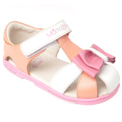 Momo Grow Girls Big Bow Leather Sandal Shoes