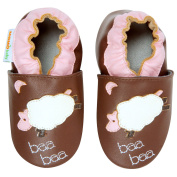 Momo Baby Infant/Toddler Soft Sole Leather Shoes - Lamb Brown
