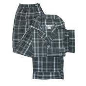 Ten West Apparel Mens Cotton Yarn Dyed Short Sleeve Long Leg Pyjama Set