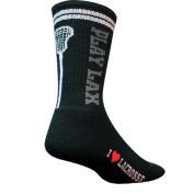 SockGuy Crew 20cm Play Lacrosse Black Socks