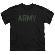 Army Type Child's T-Shirt (8+yo.) LG / Black