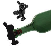 Paledone Happy Man Bottle Stopper Black