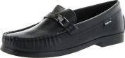 Venettini Boys Blade Designer Slip On Moccasin Loafers,Black Leather,34