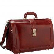 Mancini Leather Goods Luxurious Italian Leather 43cm Laptop Briefcase