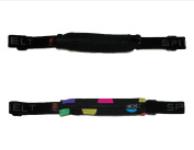 SPIbelt Unisex Spandex Exercise Expandable Waist Pack (Pack of 2), Black and Dots