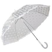 Elite Rain Umbrella Auto-Open Polka Dot Ruffle Umbrella -