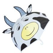 Kiddi Choice 3D PopUp Milk Cow Cute Umbrella, White
