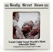 NEW BABY frame by Really Great News® - 2.5x2.5