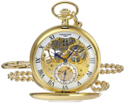 Charles-Hubert, Paris 3972-G Premium Collection Analogue Display Mechanical Hand Wind Pocket Watch