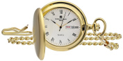 Charles-Hubert, Paris 3974-G Classic Collection Analogue Display Japanese Quartz Pocket Watch