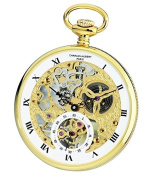 Charles-Hubert, Paris 3971-G Premium Collection Analogue Display Mechanical Hand Wind Pocket Watch
