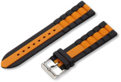 Hadley-Roma Men's MS3344RAG220 22-mm Genuine Silicone Diver Sport Watch Strap