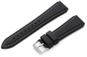 Hadley-Roma Men's MS3345RT 200 20-mm Genuine Silicone Diver Sport Watch Strap