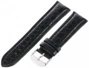 Hadley-Roma Men's MSM907RA-220 22-mm Black Genuine Leather WatchStrap