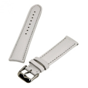 Debeer White 20 mm Wide Genuine Leather Strap