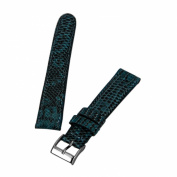 Brentwood Aqua 16 mm Wide Genuine Lizard Leather Band