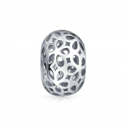 Bling Jewellery Sterling Silver Filigree Flower Bead Fits Pandora Charm