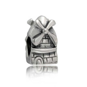 Bling Jewellery Sterling Silver Dutch Windmill Tower Travel Bead Fits Pandora