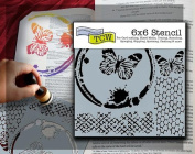 Bible Journaling Stencil - Butterfly Collage