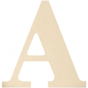 MDF Classic Font Wood Letters & Numbers 24cm -Letter A