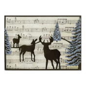 Sizzix Thinlits Die Winter Deer Card Front For A6