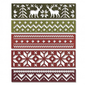 Sizzix Thinlits Dies 5/Pkg By Tim Holtz-Holiday Knit