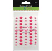 Eyelet Outlet Adhesive-Back Enamel Hearts 48/Pkg