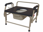 ConvaQuip 736DAU-E Bariatric Bedside Commode with Drop Arms