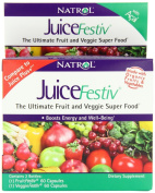 Natrol JuiceFestiv Dietary Supplement Capsules, 60 Count FruitFestiv & 60 Count VeggieFestiv