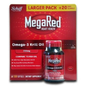 Schiff MegaRed 350 mg Omega-3 Krill Oil, 130 Softgels