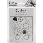 Crafty Individuals Unmounted Rubber Stamp 12cm x 18cm Pkg-Tick Tock Clock Faces