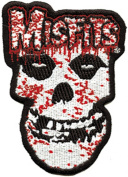 Misfits Men's Bloody Skull Embroidered Patch Black
